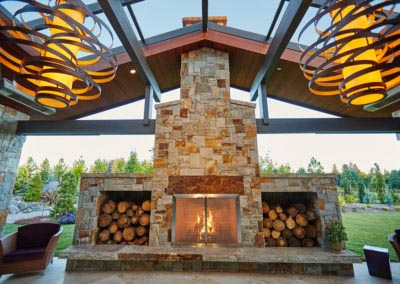 Residential Landscaping Patio Fireplace